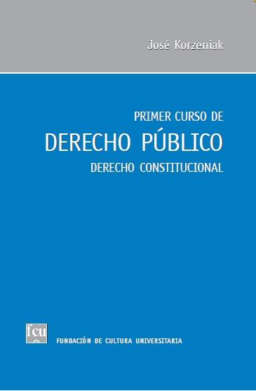 Tapa del libro: Korzeniak, Primer curso de Derecho Público