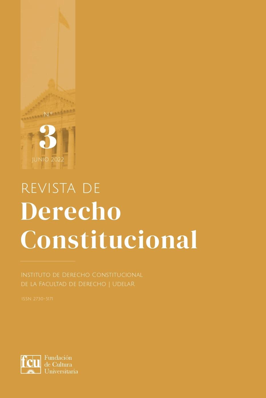 Tapa de la Revista de Derecho Constitucional