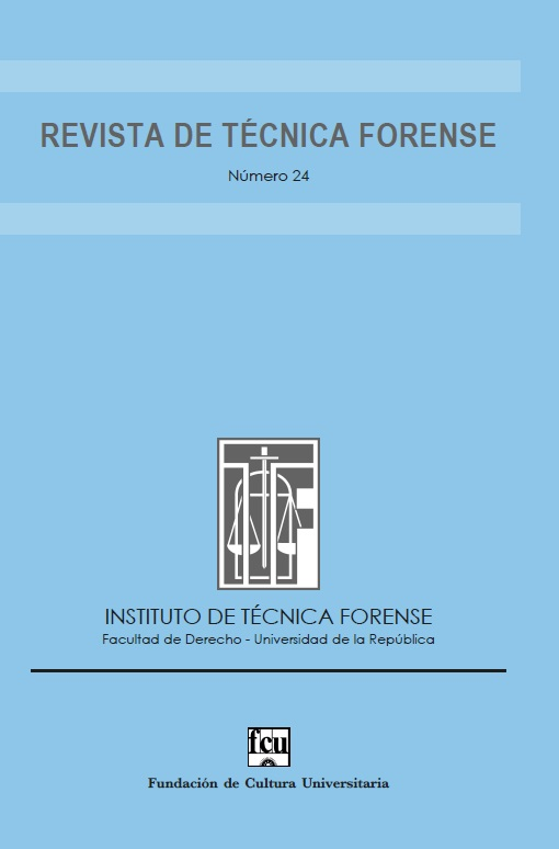 tapa de la Revista de Técnica Forense